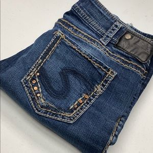 Womens Silver Jeans 31x32 DISTRESSED ♥
